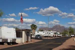 RV, 5th Wheel, and Travel Trailer Hookup Spaces in Rentals Apache Junction AZ