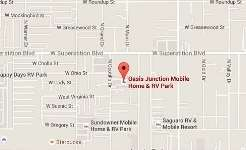 Oasis Junction Mobile Home & RV Park Location