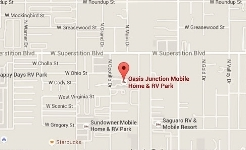 Oasis Junction Mobile Home RV Park Location