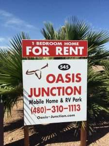 About Oasis Junction Mobile Home & RV Park