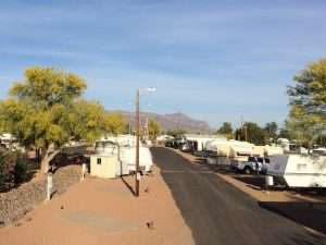 Winter RV Hookups Apache Junction Az